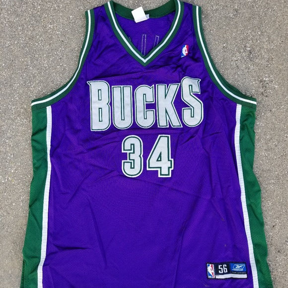sports shoes a8d39 7d658 Ray Allen Milwaukee Bucks jersey